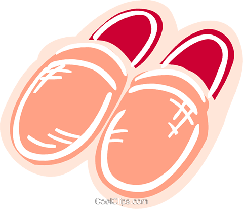 Warm slippers Royalty Free Vector Clip Art illustration vc093600