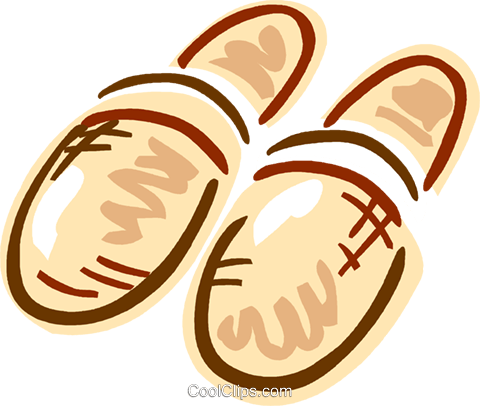 Warm slippers Royalty Free Vector Clip Art illustration vc093601