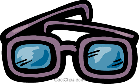 Thick eyeglasses Royalty Free Vector Clip Art illustration vc093602