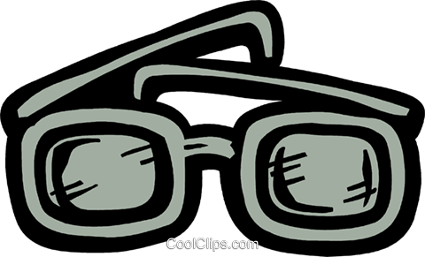 Thick eyeglasses Royalty Free Vector Clip Art illustration vc093603