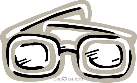 Thick eyeglasses Royalty Free Vector Clip Art illustration vc093604
