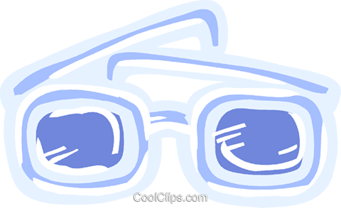 Thick eyeglasses Royalty Free Vector Clip Art illustration vc093605