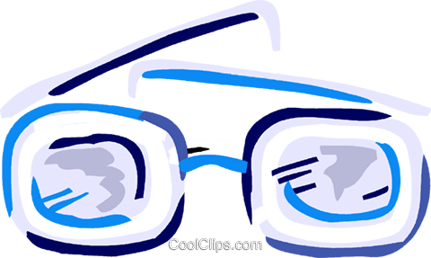 Thick eyeglasses Royalty Free Vector Clip Art illustration vc093606