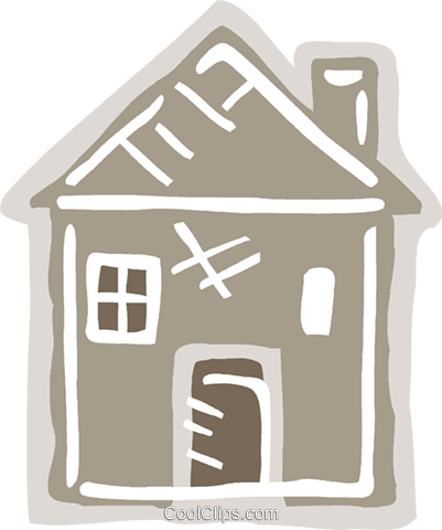 Family home Royalty Free Vector Clip Art illustration vc093615