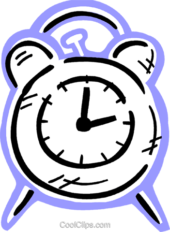 Alarm clock Royalty Free Vector Clip Art illustration vc093624