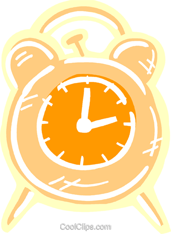 Alarm clock Royalty Free Vector Clip Art illustration vc093625