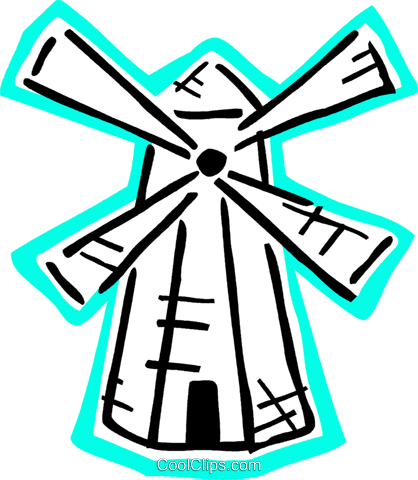 Dutch windmill Royalty Free Vector Clip Art illustration vc093644