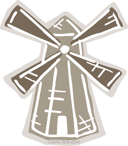 Dutch windmill Royalty Free Vector Clip Art illustration vc093645