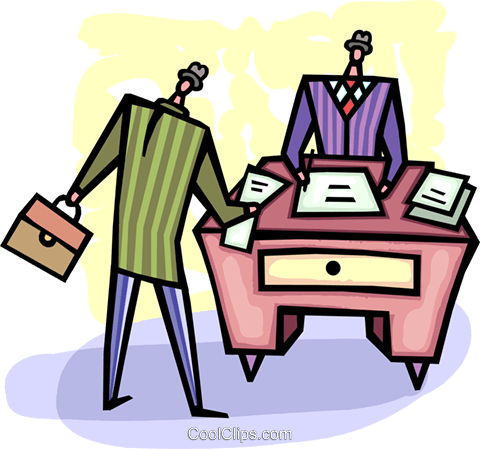 Doing Paperwork Royalty Free Vector Clip Art illustration vc093664