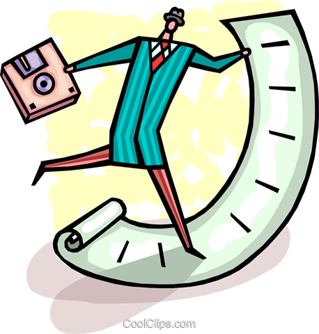 Doing Paperwork Royalty Free Vector Clip Art illustration vc093667