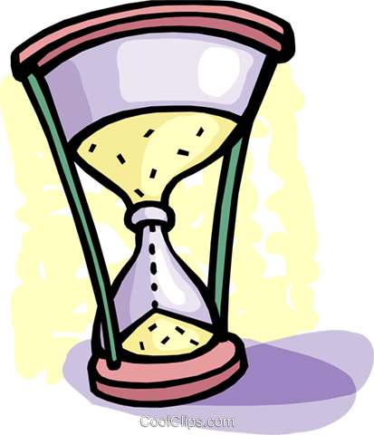 Hourglasses Royalty Free Vector Clip Art illustration vc093668