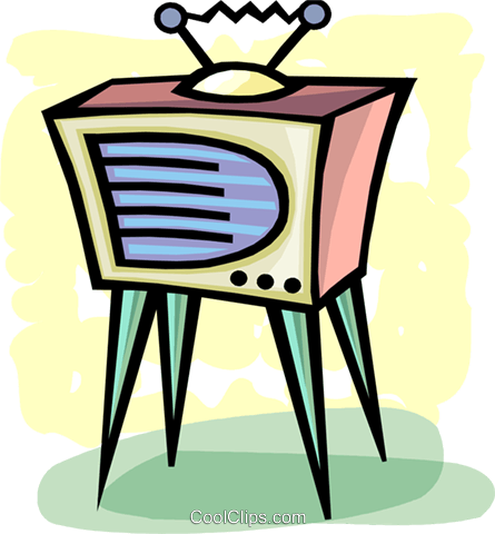 Televisions Royalty Free Vector Clip Art illustration vc093669