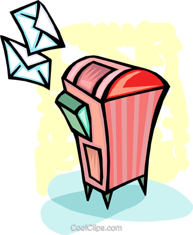 Mailboxes Royalty Free Vector Clip Art illustration vc093670