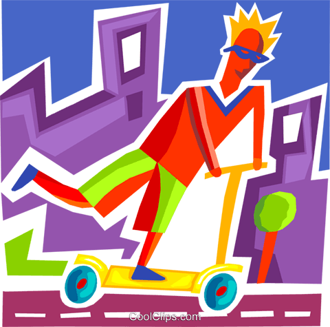 Scooters Royalty Free Vector Clip Art illustration vc093687