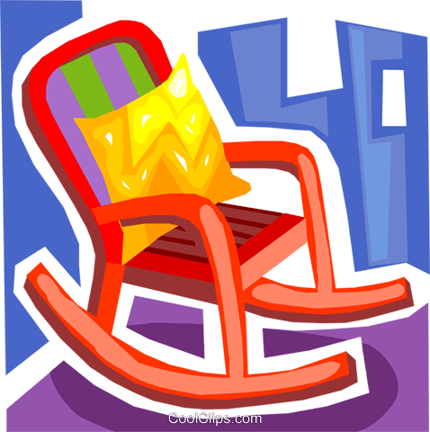 Rocking Chairs Royalty Free Vector Clip Art illustration vc093692