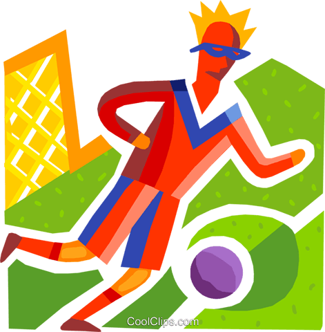Soccer Players Royalty Free Vector Clip Art illustration vc093696