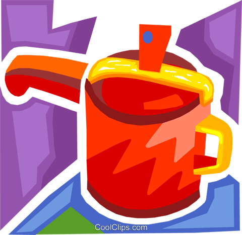 Pots and Pans Royalty Free Vector Clip Art illustration vc093698