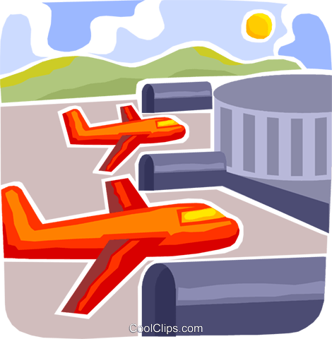 Airport Terminals Royalty Free Vector Clip Art illustration vc093705