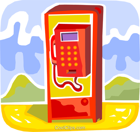 Public Pay Phones Royalty Free Vector Clip Art illustration vc093725