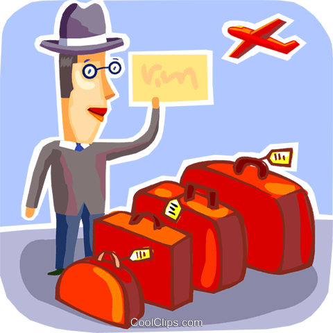 Passengers Royalty Free Vector Clip Art illustration vc093734