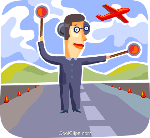 Air Traffic Control Royalty Free Vector Clip Art illustration vc093738