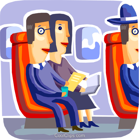Passengers Royalty Free Vector Clip Art illustration vc093746
