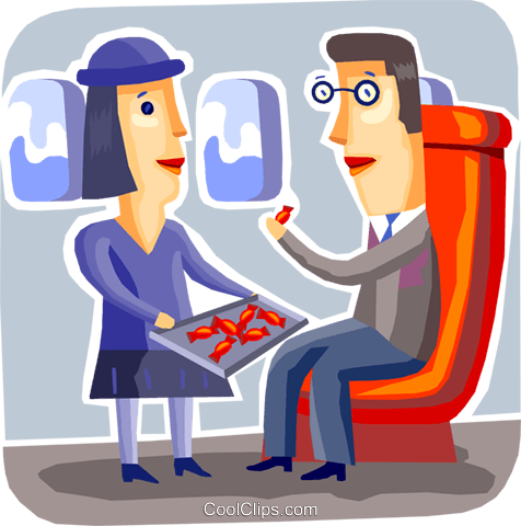 Passengers Royalty Free Vector Clip Art illustration vc093747