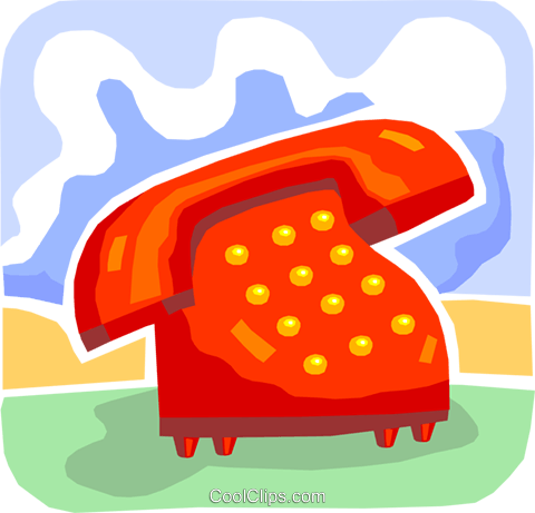 Home Phones Royalty Free Vector Clip Art illustration vc093754