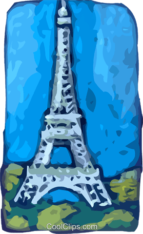Eiffel Tower Royalty Free Vector Clip Art illustration vc093791