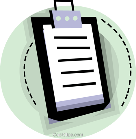 Clipboard Royalty Free Vector Clip Art illustration vc093810