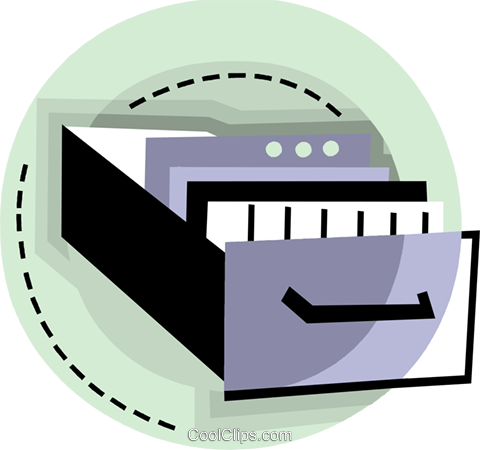 Filing cabinet drawer Royalty Free Vector Clip Art illustration vc093811