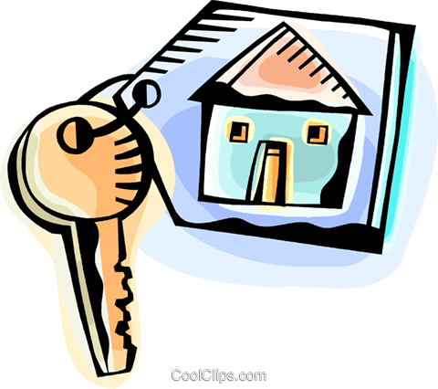 House key Royalty Free Vector Clip Art illustration vc093823