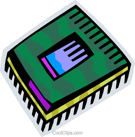 Chips and Processors Royalty Free Vector Clip Art illustration vc093834