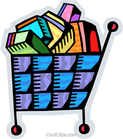 Shopping Carts Royalty Free Vector Clip Art illustration vc093852