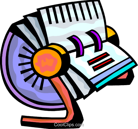 Rolodex Royalty Free Vector Clip Art illustration vc093865