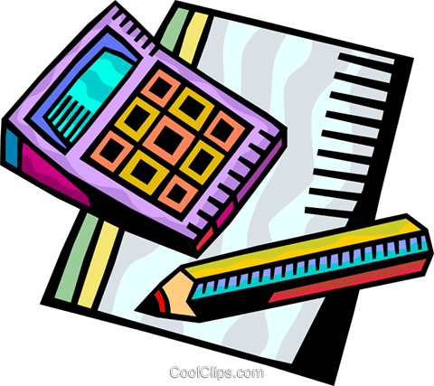 Calculators Royalty Free Vector Clip Art illustration vc093868