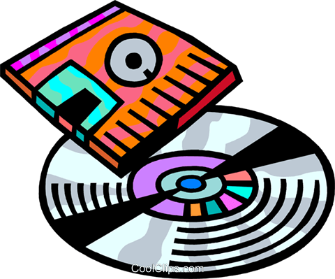 Compact Discs  CD's Royalty Free Vector Clip Art illustration vc093871
