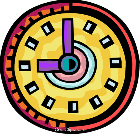 Wall Clocks Royalty Free Vector Clip Art illustration vc093874