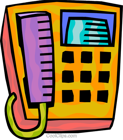 Office Phones Royalty Free Vector Clip Art illustration vc093875