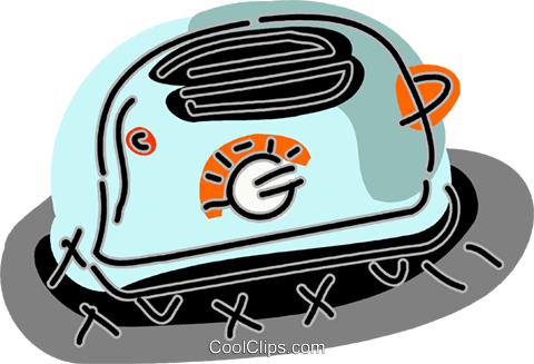 Toaster Royalty Free Vector Clip Art illustration vc093885