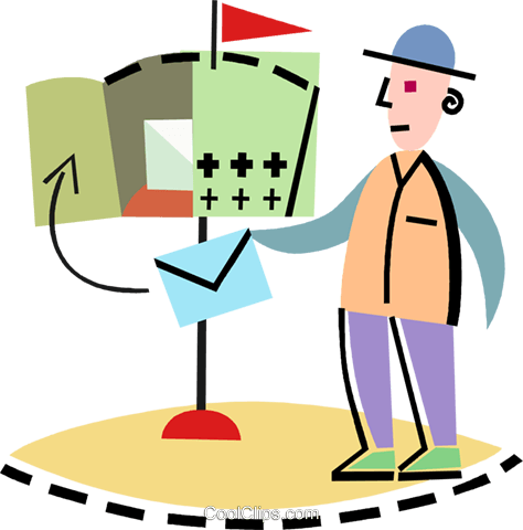 Postman  Mailman Royalty Free Vector Clip Art illustration vc093906