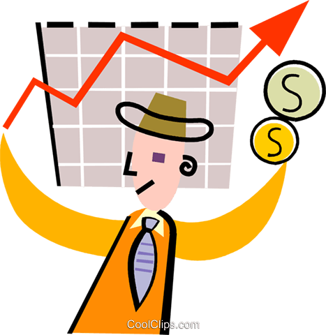 Charting Success Royalty Free Vector Clip Art illustration vc093912