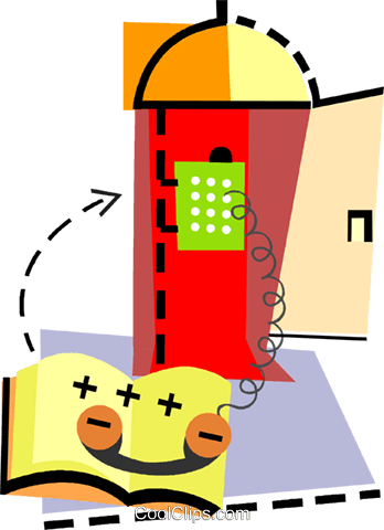 Public Pay Phones Royalty Free Vector Clip Art illustration vc093919