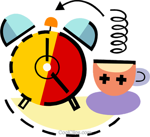 Alarm Clocks Royalty Free Vector Clip Art illustration vc093925