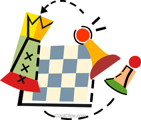 Chess Royalty Free Vector Clip Art illustration vc093926