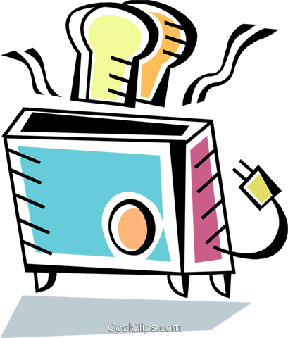 Toasters Royalty Free Vector Clip Art illustration vc093941