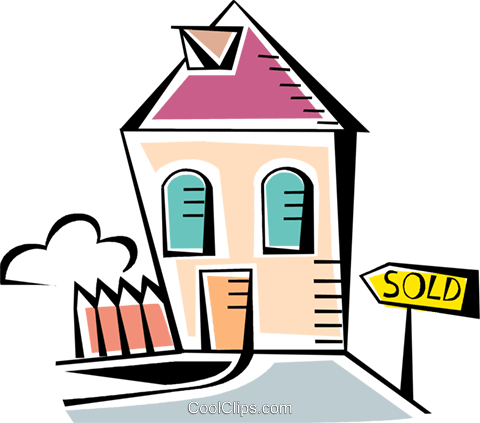Urban Housing Royalty Free Vector Clip Art illustration vc093942