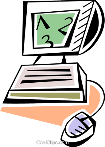 Computer Desktop Systems Royalty Free Vector Clip Art illustration vc093945