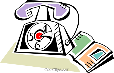 Home Phones Royalty Free Vector Clip Art illustration vc093947