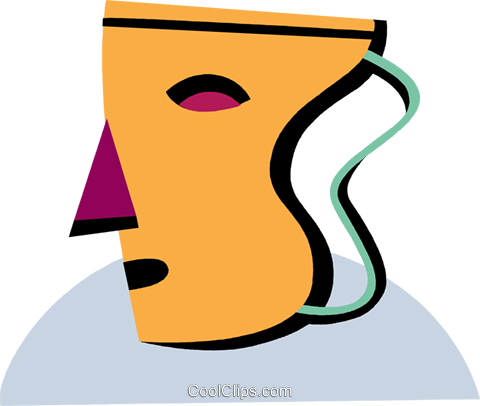 Drama mask Royalty Free Vector Clip Art illustration vc093958